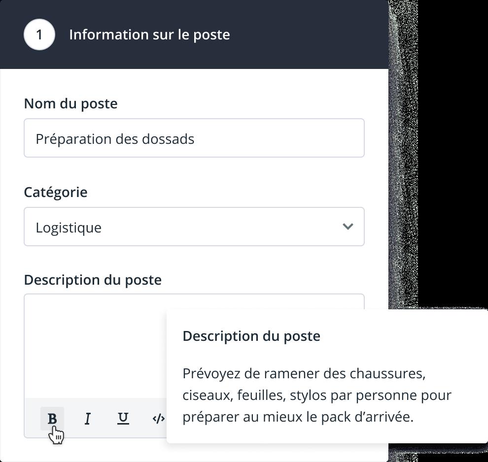 Description poste